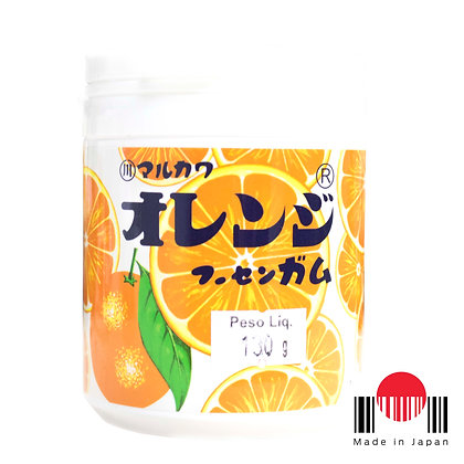 BDG141 - Marble Gum Bottle Orange (Laranja) 130g Marukawa