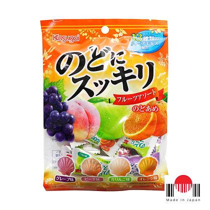 BBK143 - Nodo ni Sukkiri Fruit Assort 87g - Kasugai