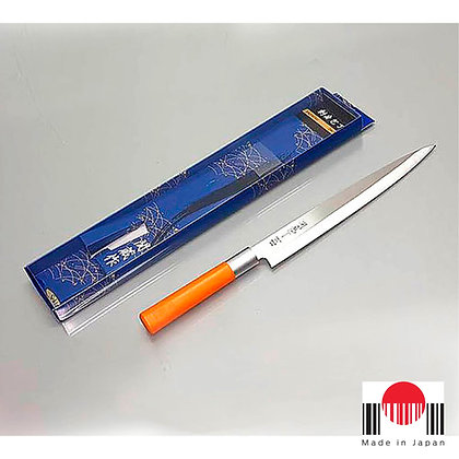 1CF143 - Faca Sashimi Cabo Plastico Laranja 240mm - Sekizo