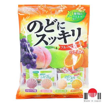 BBK142 - Nodo ni Sukkiri Fruits Assorted 113g - Kasugai