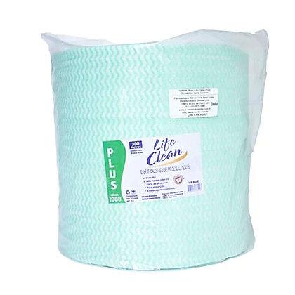 1LP004 - Pano Multiuso Life Clean Plus 28cm X 300m Verde Carmex