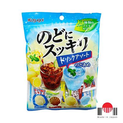 BBK144 - Nodo ni Sukkiri Drink Assort 105g - Kasugai