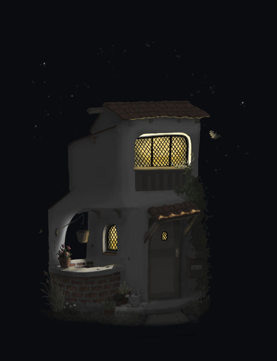 Waterputhuis 's-nachts