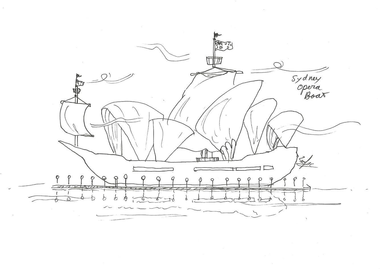 Sydney Opera Boat