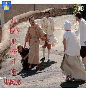 affiche des visites théâtralisées de Castelnau-de-Guers animées par la cie Les Rosses Moustiques