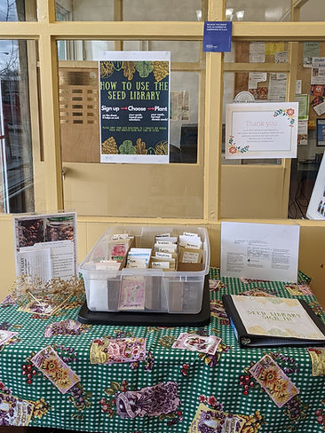Seed Library display