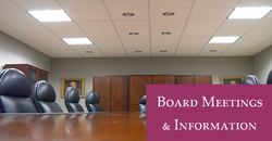 Links opens new window to Board Meetings and Information