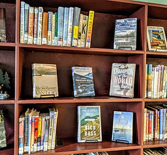 Montana Fiction shelves in Montana Room
