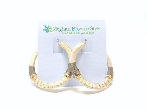 Rowan Cream Hoop Earring