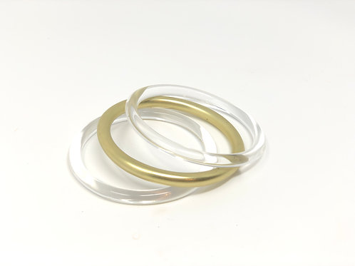 Jasmine Clear Stackable Bracelets