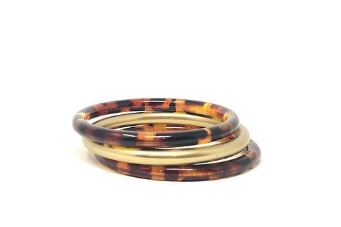 Jasmine Tortoise Stackable Bracelets