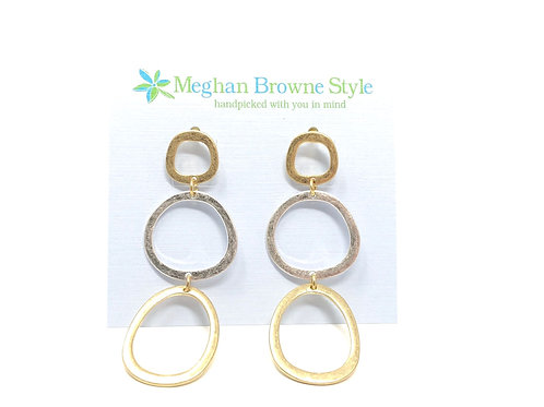 Vern Gold Silver Earring