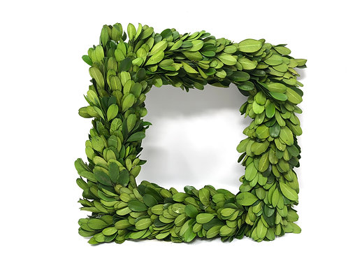 Preserved Boxwood Square Wreath 8.25