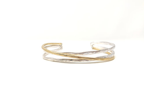 Hilly Gold and Silver Bracelet