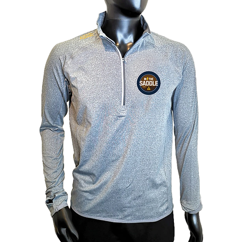 In The Saddle Marl Quarter Zip Top