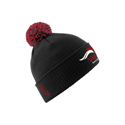 Value Racing Club Black Bobble Hat