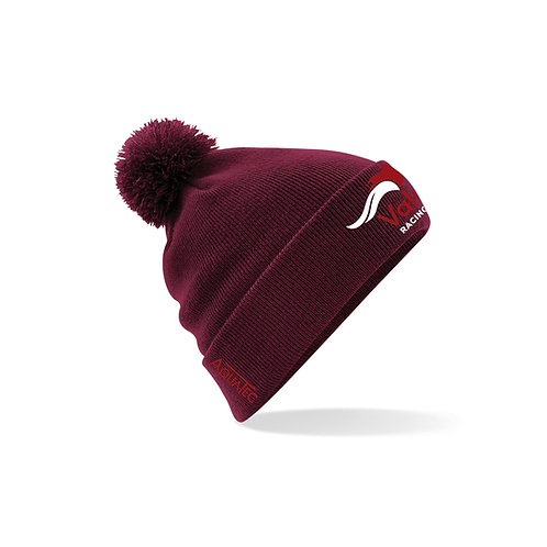 Value Racing Club Burgundy Bobble Hat