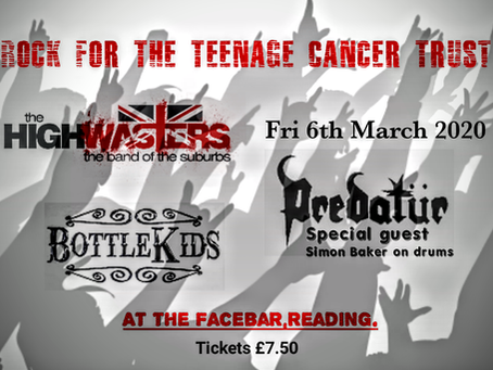 Tickets for rock for teenage cancer trust