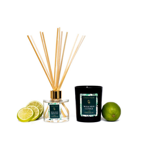 Lime Candle & Diffuser Set