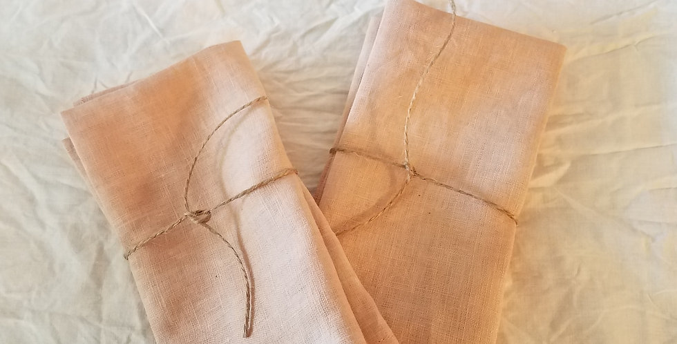 Linen napkins set of 2 - avocado pits