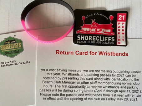 Spring Returns! 2021 Parking Stickers & Wristbands Available during Spring Break.