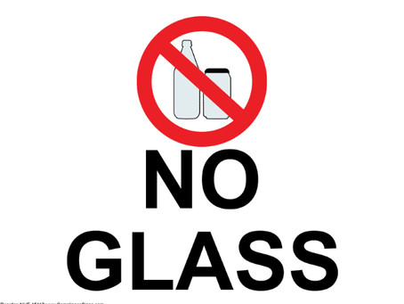 NO GLASS Allowed at the Beach Club!