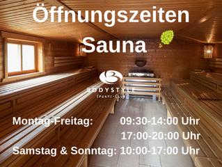 Unsere Sauna hat wieder geöffnet!