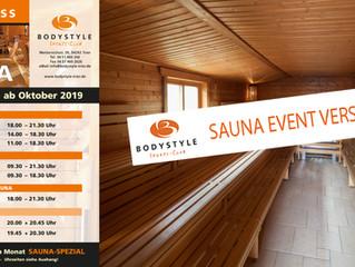 Sauna Event verschoben!