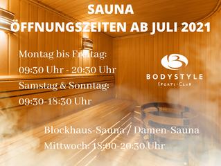 Wir erweitern unsere Saunaöffnungszeiten.