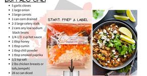 Freezer Meal Prep Ideas- Buffalo Chili