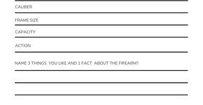 Firearm Gun Review Template (pdf)