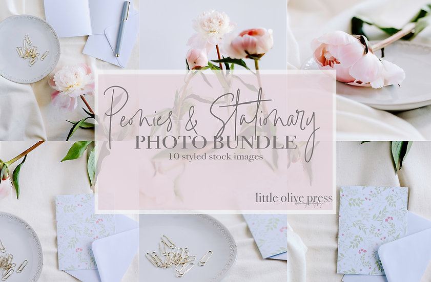 Peonies and Stationary