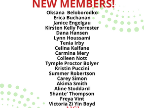 Welcoming Our New Members