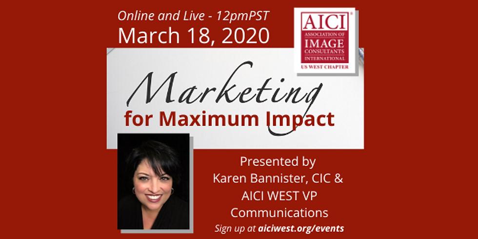 Marketing for Maximum Impact