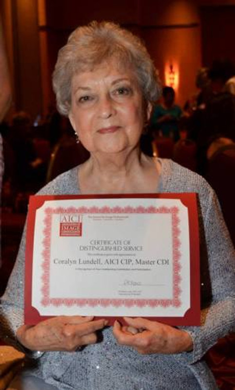 Coralyn with award 2013