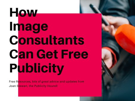 How Image Consultants Can Get Free Publicity