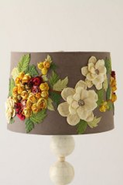 Anthropologie Rose Landscape Shade