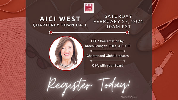 AICI WEST Quarterly Town Hall Saturday -