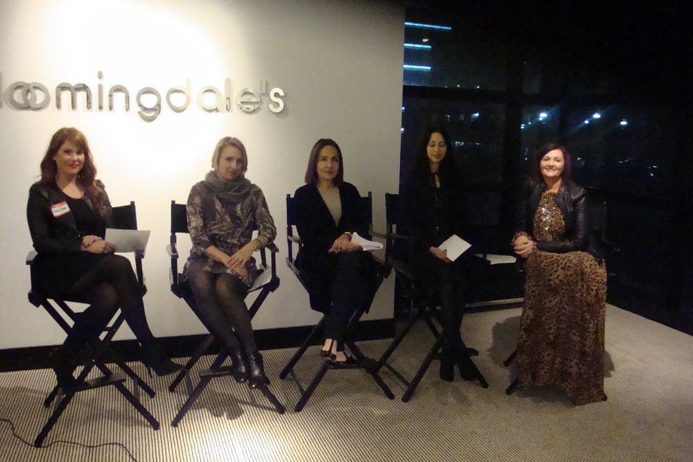 Amanda Adams, Bloomingdale's At Your Service; Laura Compton, Style editor, San Francisco Chronicle; Hersha Steinbock, Fashion Instructor Academy of Art; Cati Gallardo, Bloomingdale's Public Relations