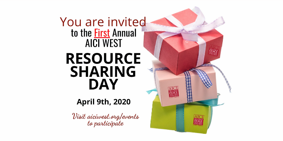 First Annual AICI WEST Resource Sharing Day