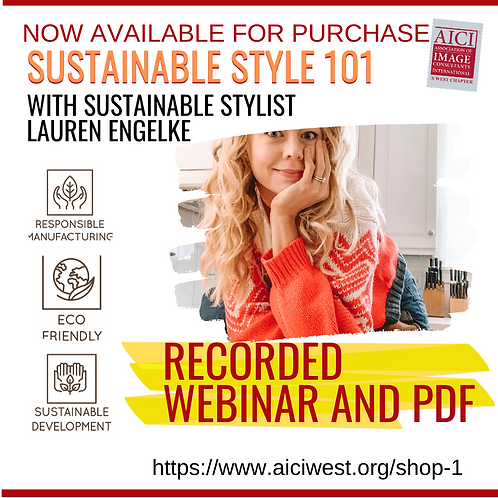 Sustainable Styling with Lauren Engelke Recorded Webinar and eBook