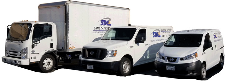 Box truck and other vehicles are available 24/7 for your delivery & messenger service
