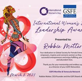 International Women's Day - Leadership Award - 2021