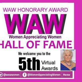 Women Appreciating Women - Hall of Fame Honorary Award
