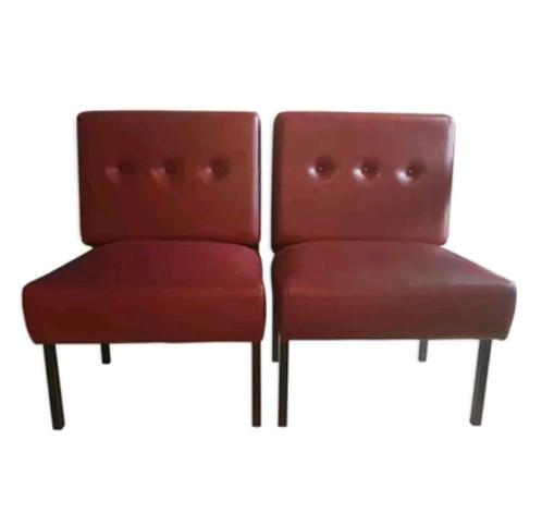 paire de deux banquette de bistrot brocante vintage. Black Bedroom Furniture Sets. Home Design Ideas