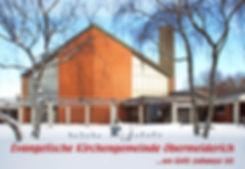 Kirche im Schnee mit Spruch unten 2009.j