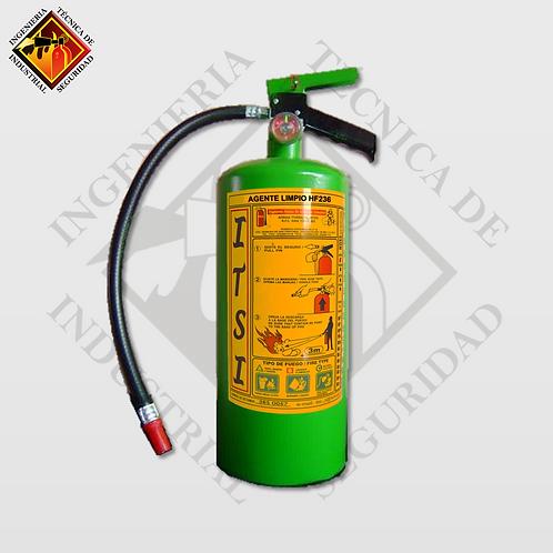 Extintor de Agente Limpio HFC-236 4.5 Kg