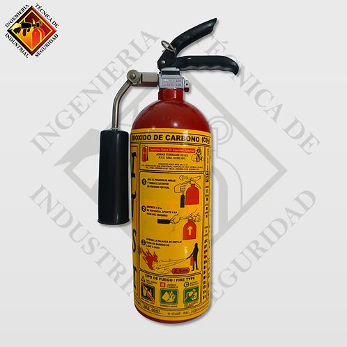 Extintor de CO2 2.3 Kg (5Lbs)