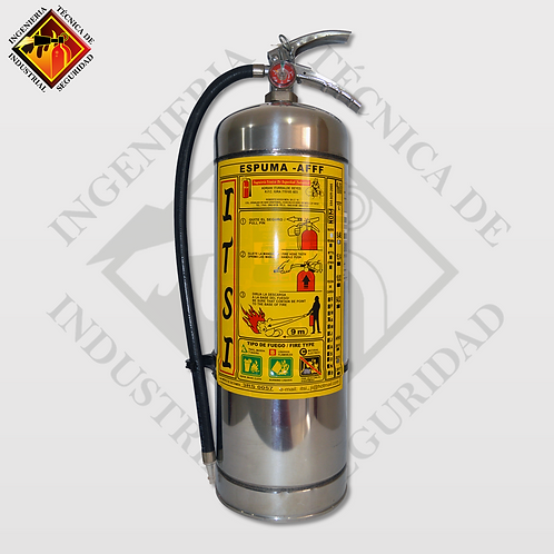 Extintor de Espuma AFFF 9 L Inoxidable