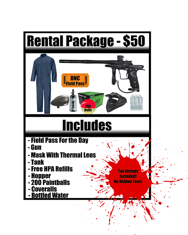 Rental Package 2019 Speedball Rental Pac